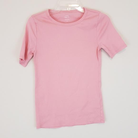 f7dbef435512e J.Crew Perfect Fit T Shirt Short Sleeve Light Pink